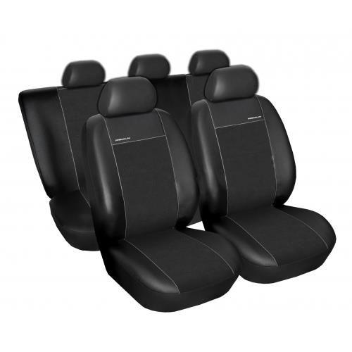 Skórzane Pokrowce Samochodowe Miarowe Premium Czarne Opel