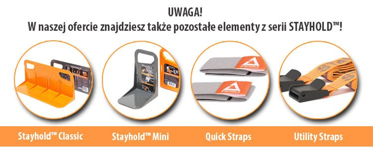 4x Organizer do bagażnika STAYHOLD MINI Szare