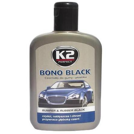 K2 Bono Black Czernidło do gumy i plastiku 200ml